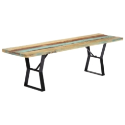 Bench 160 cm Solid Reclaimed Wood | Furniture Supplies UK