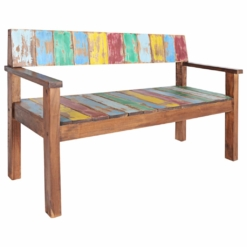 Bench Solid Reclaimed Boat Wood 125x51x80 cm | Furniture Supplies UK