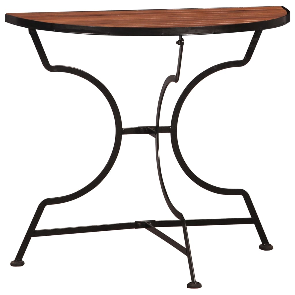 Bistro Balcony Table 85x43x75 cm Solid Acacia Wood   Furniture Supplies UK