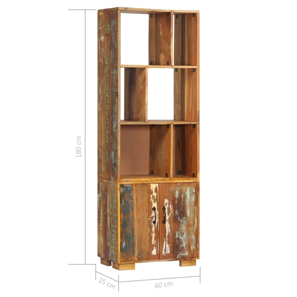 Bookshelf 60x35x180 cm Solid Reclaimed Wood