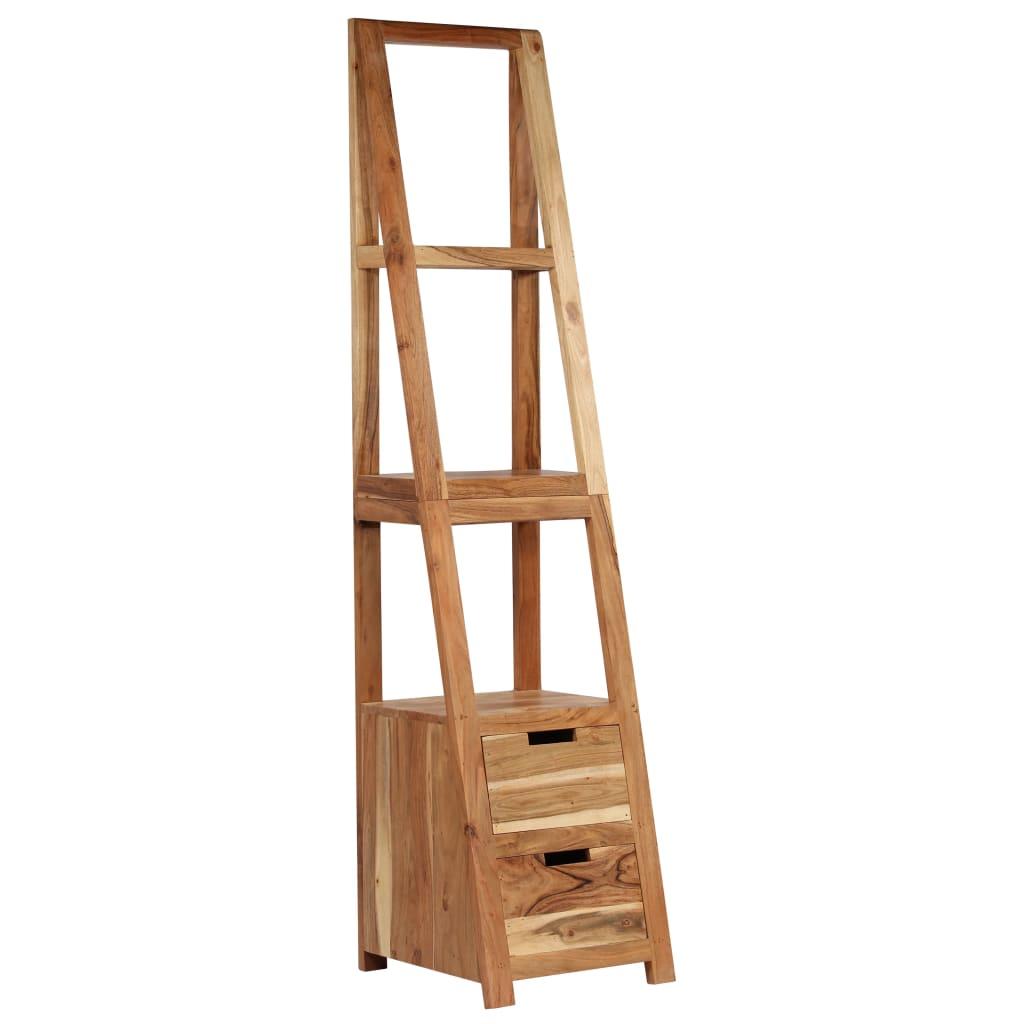 Bookshelf Solid Acacia Wood 40x45x175 cm Brown | Furniture Supplies UK