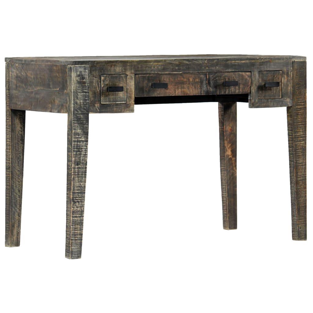 Casa Black Desk 110x50x75 cm Solid Mango Wood