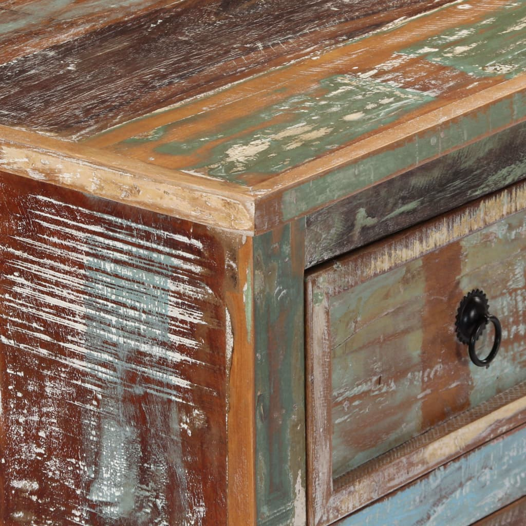 Chest of Drawers 130x40x80 cm Solid Reclaimed Wood |  | Multicolour