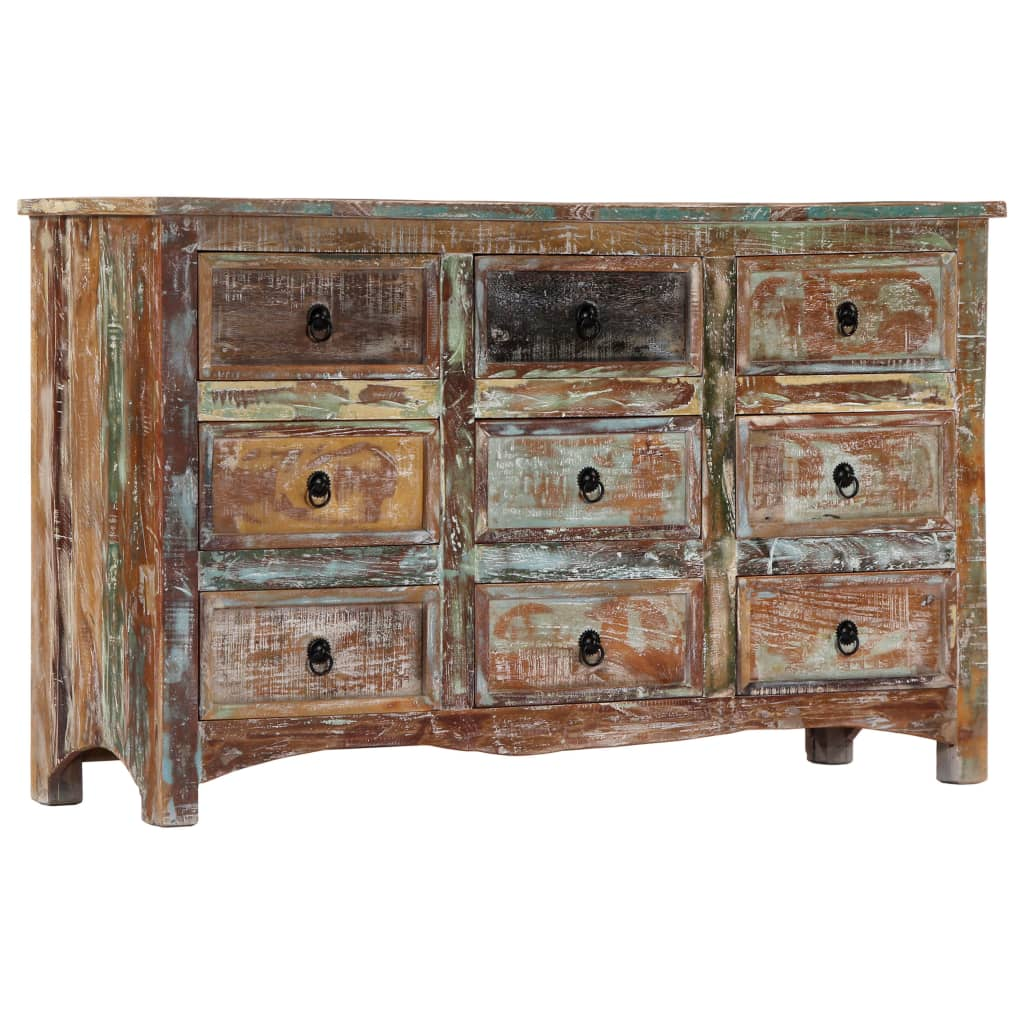 Chest of Drawers 130x40x80 cm Solid Reclaimed Wood | Furniture Supplies UK
