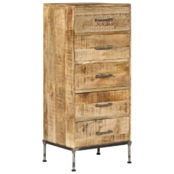 Chest of Drawers 45x35x106 cm Solid Mango Wood | Furniture Supplies UK
