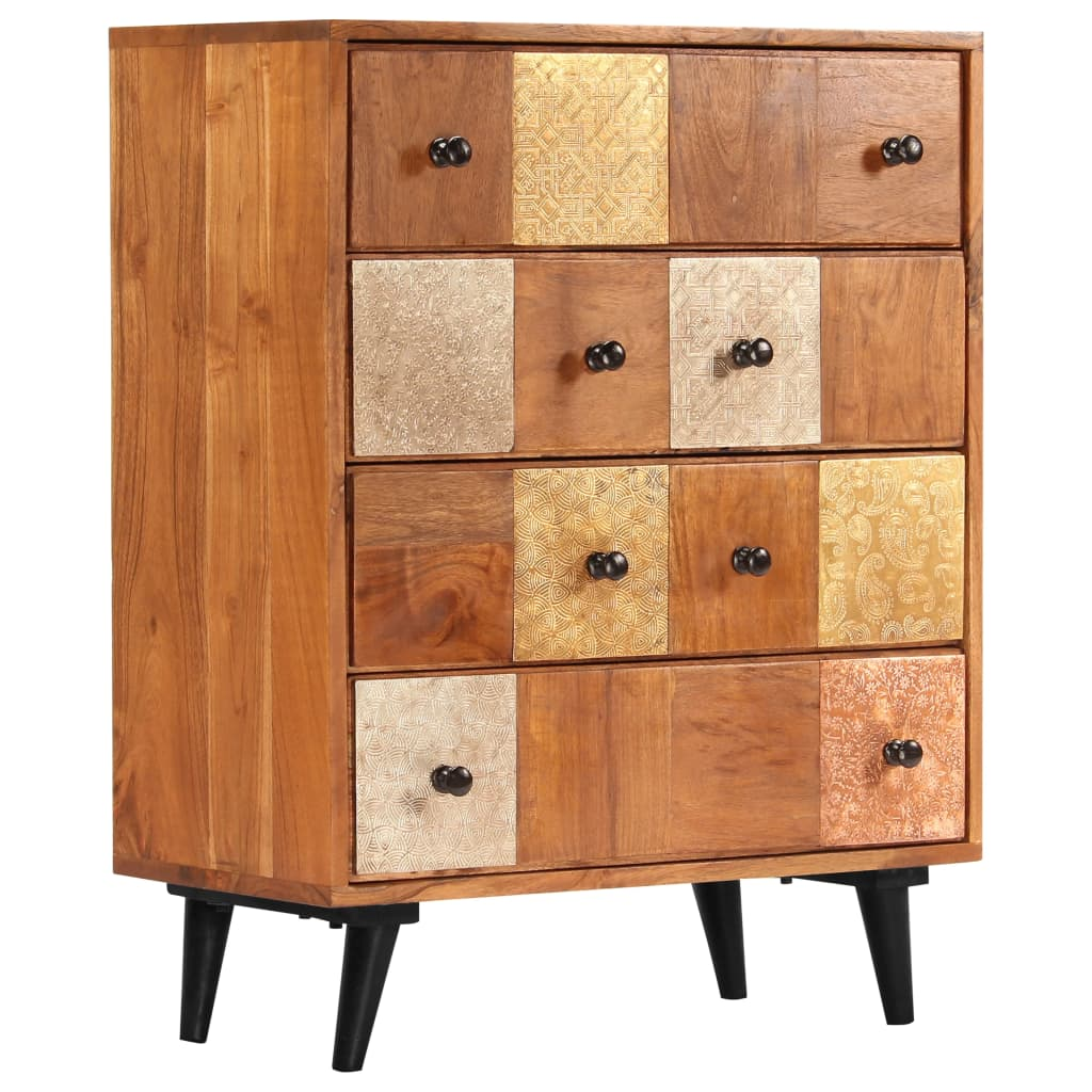 Chest of Drawers 60x30x75 cm Solid Acacia Wood | Furniture Supplies UK