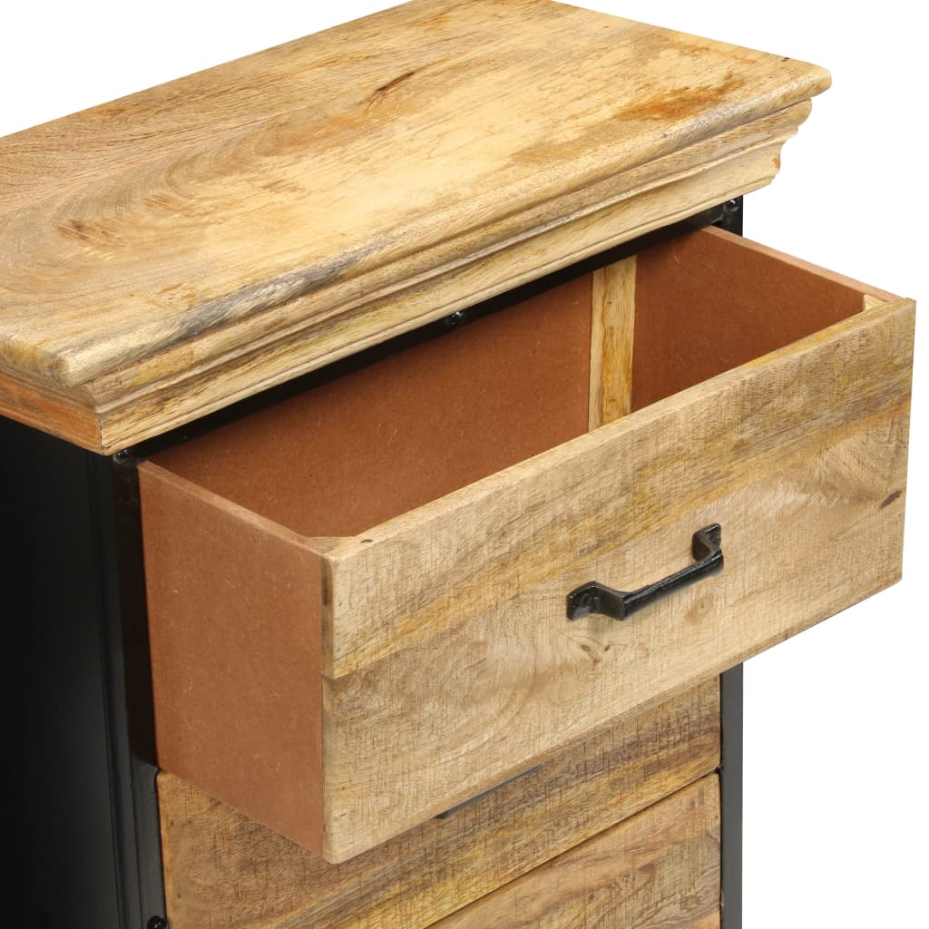 Chest of Drawers 60x30x75 cm Solid Mango Wood