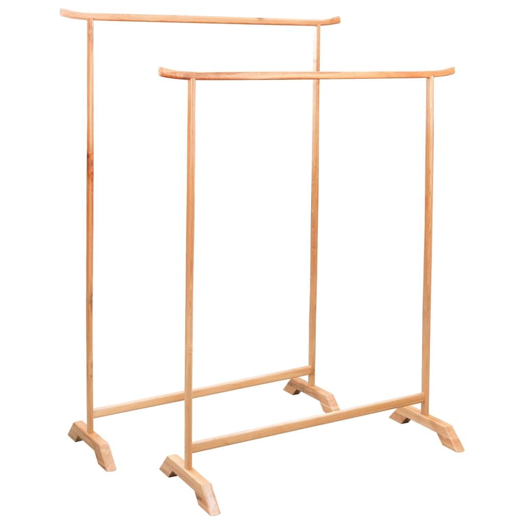 Clothes Racks 2 pcs Solid Oak Wood   Furniture Supplies UK