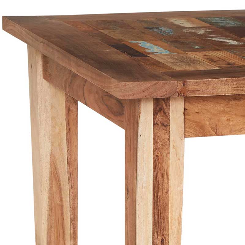 Coastal Small Dining Table With 4 Chairs   Solid Wood  