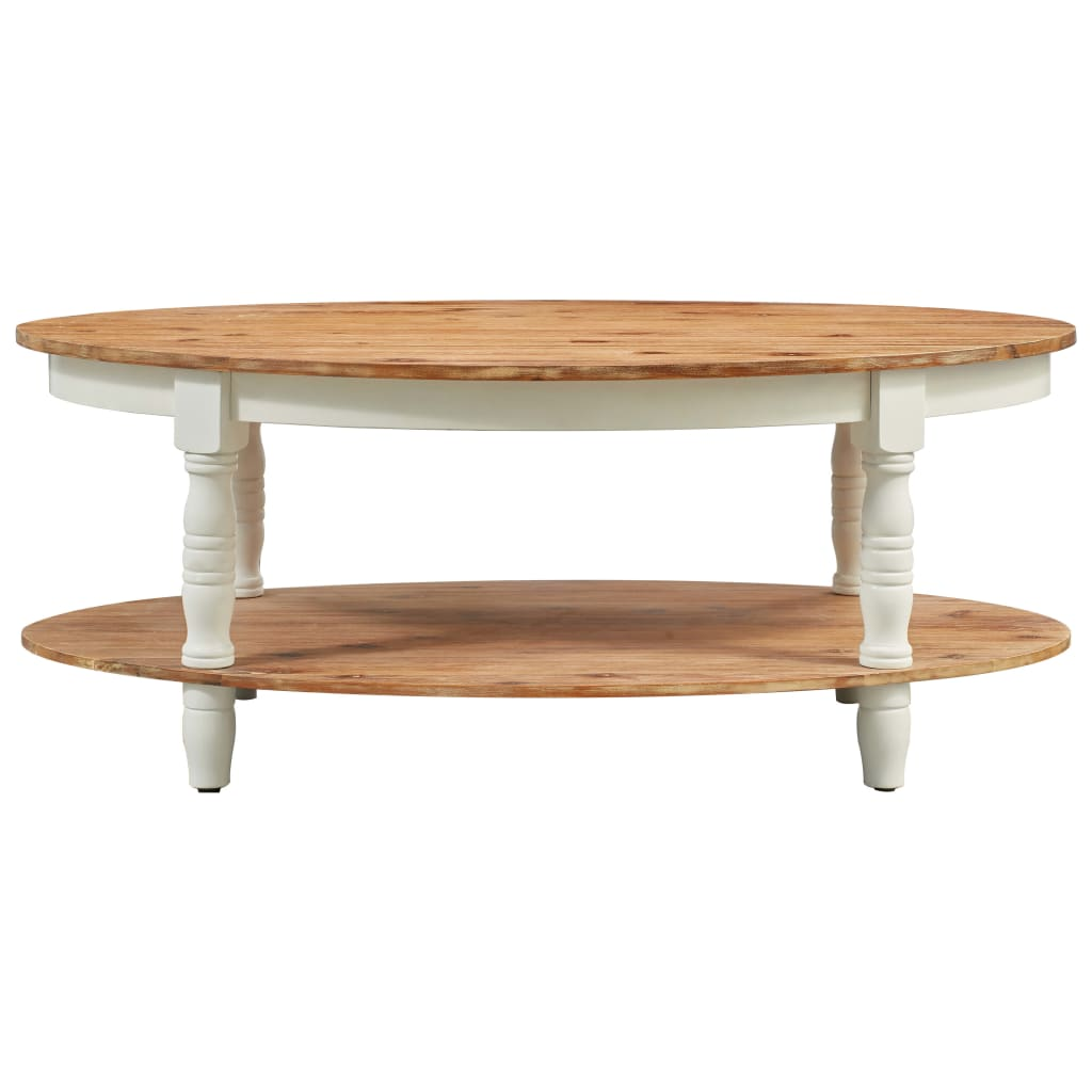 Coffee Table 102x62.5x42 cm Solid Acacia Wood |  | Brown