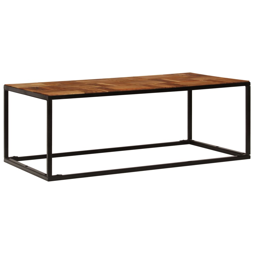 Coffee Table 110x40x60 cm Solid Acacia Wood and Steel |  | Brown