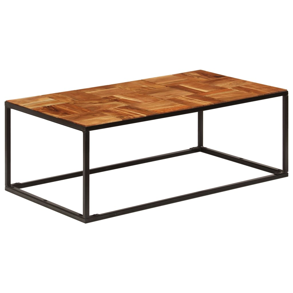 Coffee Table 110x40x60 cm Solid Acacia Wood and Steel | Furniture Supplies UK