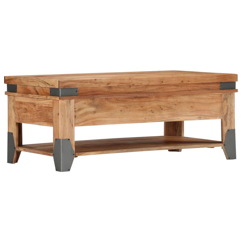 Coffee Table 110x55x45 cm Solid Acacia Wood