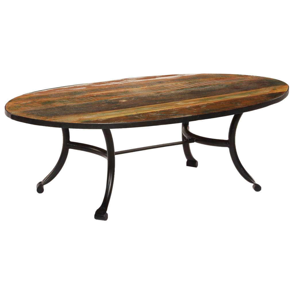 Coffee Table 110x60x35 cm Solid Reclaimed Wood | Furniture Supplies UK