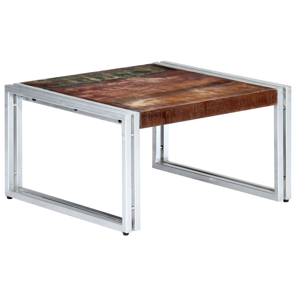 Coffee Table 60x60x35 cm  Solid Reclaimed Wood | Furniture Supplies UK