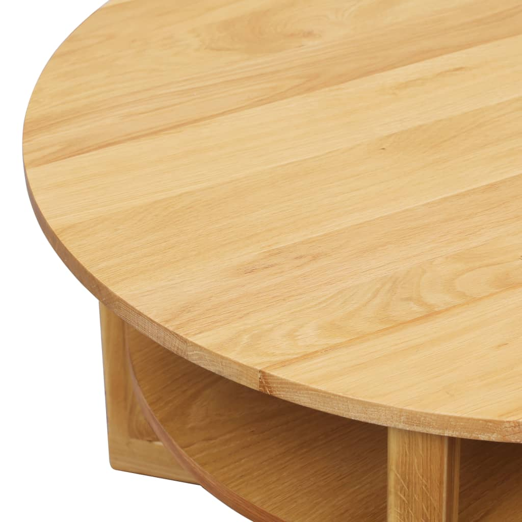 Coffee Table 75x40 cm Solid Oak Wood