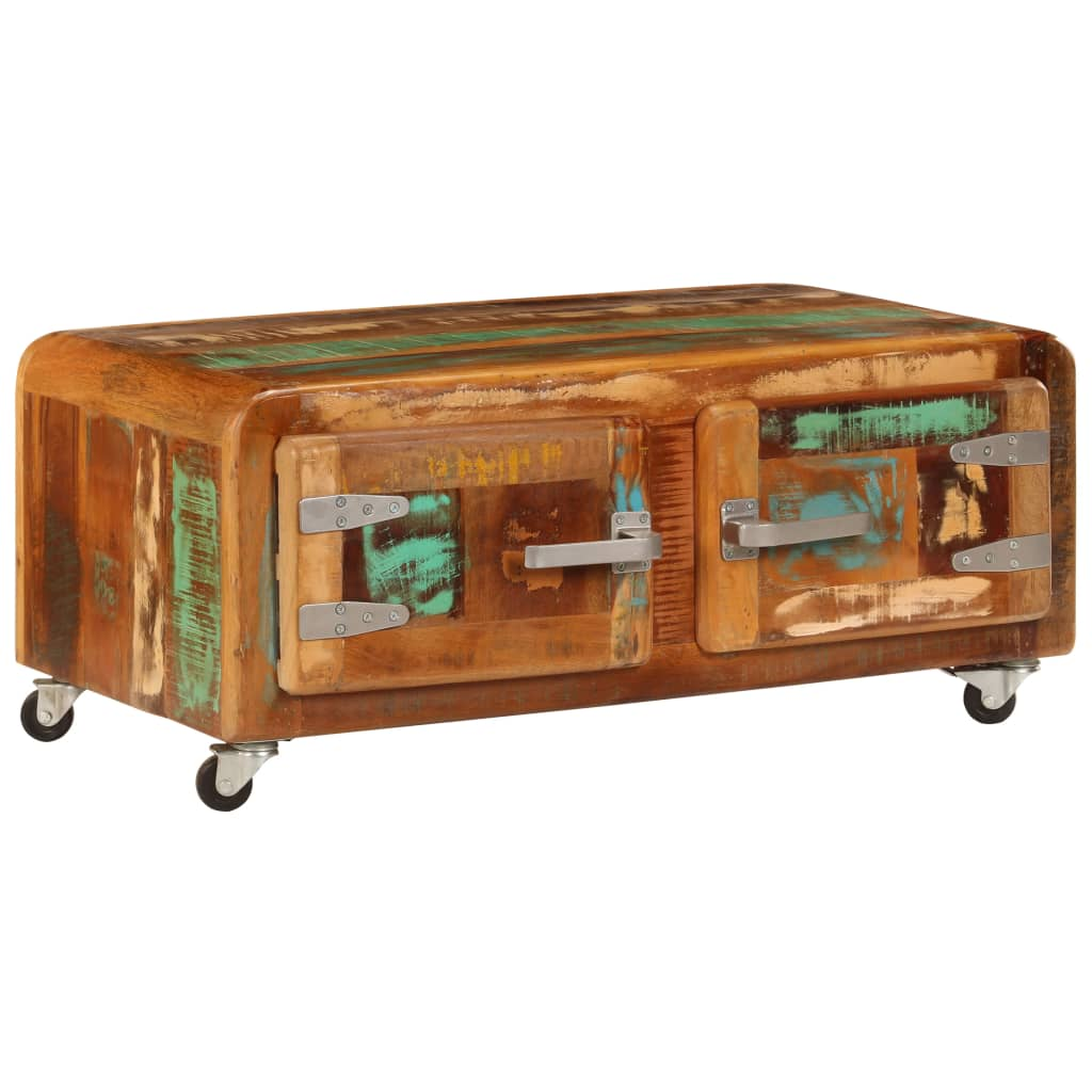 Coffee Table 85x55x40 cm Solid Reclaimed Wood | Furniture Supplies UK