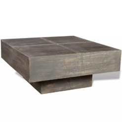 Coffee Table Dark Brown Square Solid Mango Wood | Furniture Supplies UK