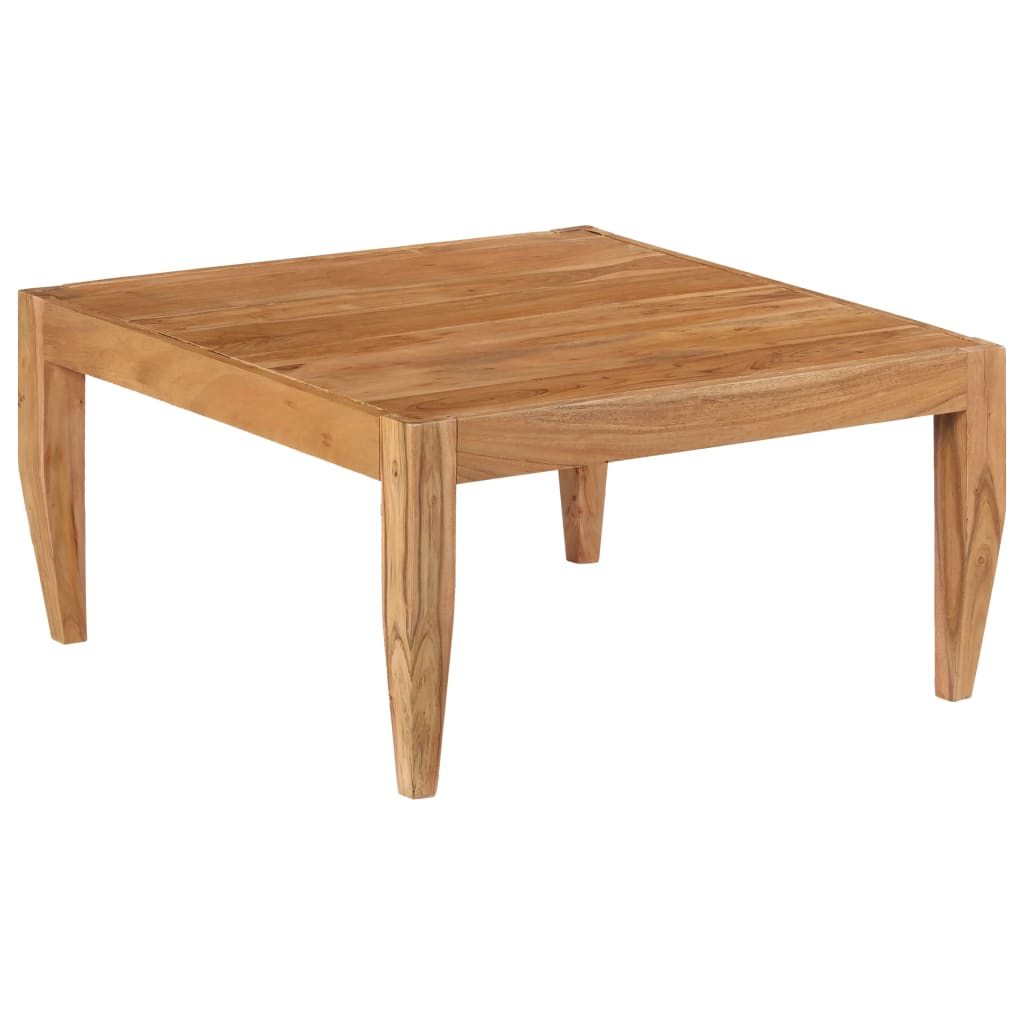 Coffee Table Solid Acacia Wood 80x80x41 cm Brown   Furniture Supplies UK