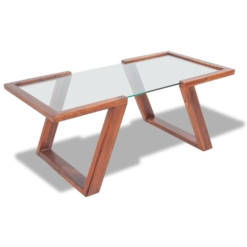 Coffee Table Solid Acacia Wood Brown 100x50x40 cm | Furniture Supplies UK