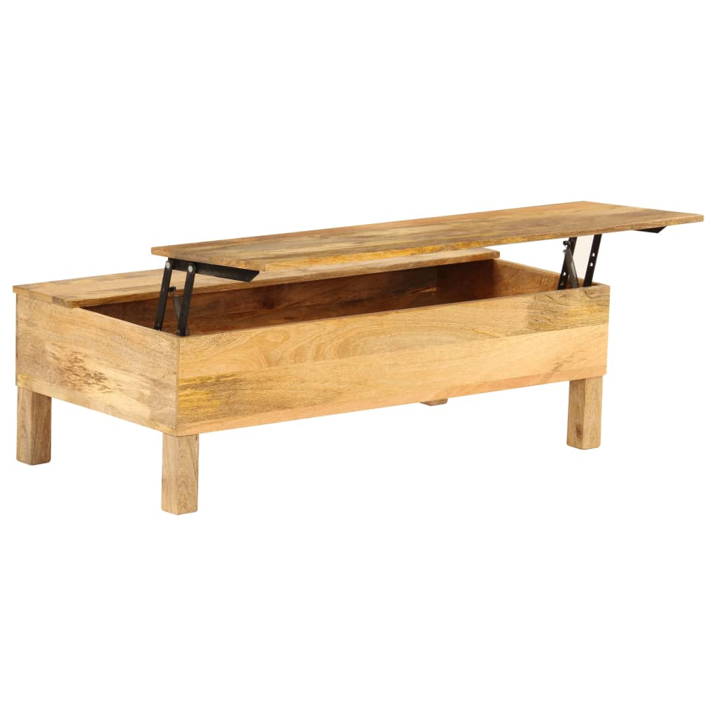 Coffee Table Solid Mango Wood 110x55x35 cm | Furniture Supplies UK