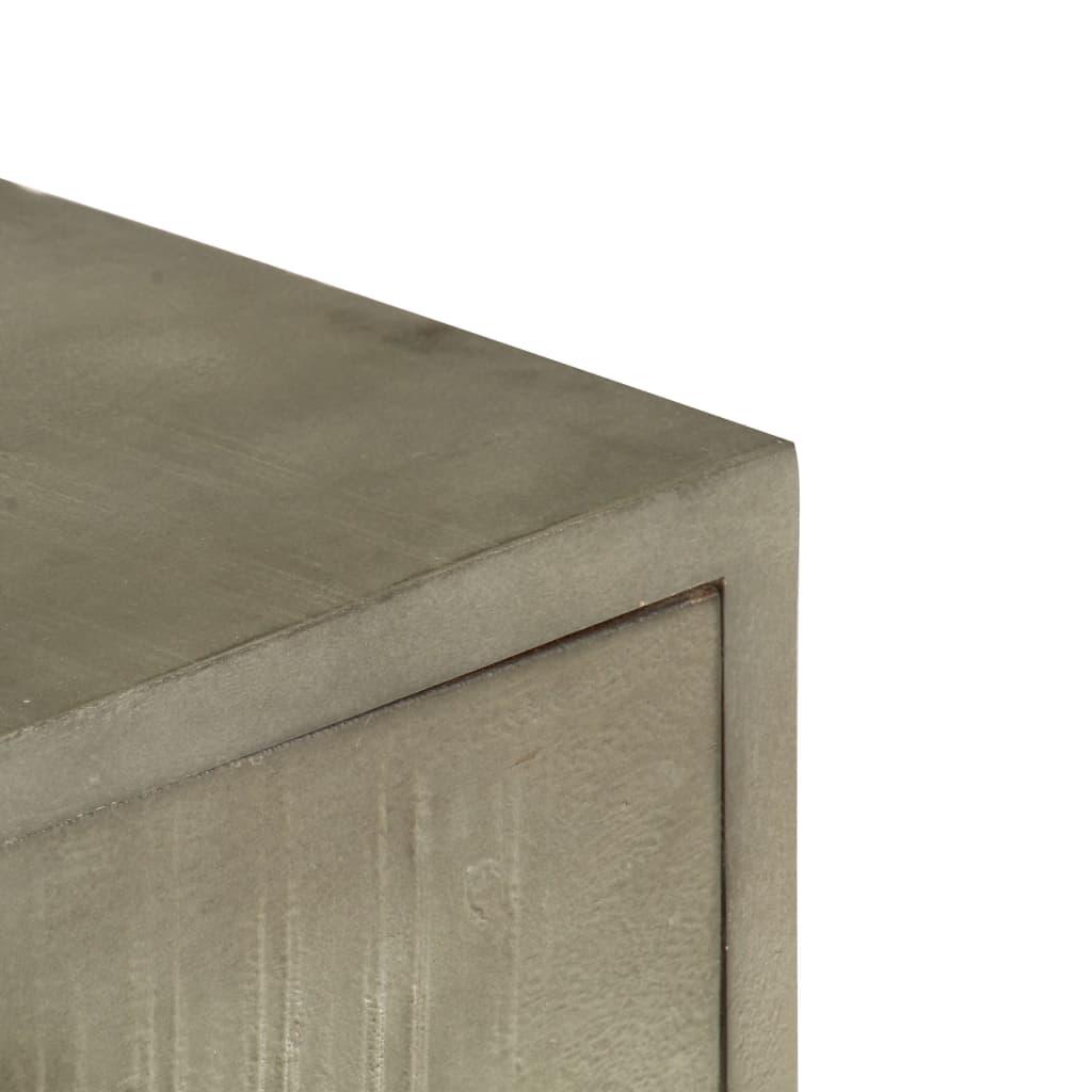 Coffee Table Solid Mango Wood Grey with Brass 110x60x35 cm