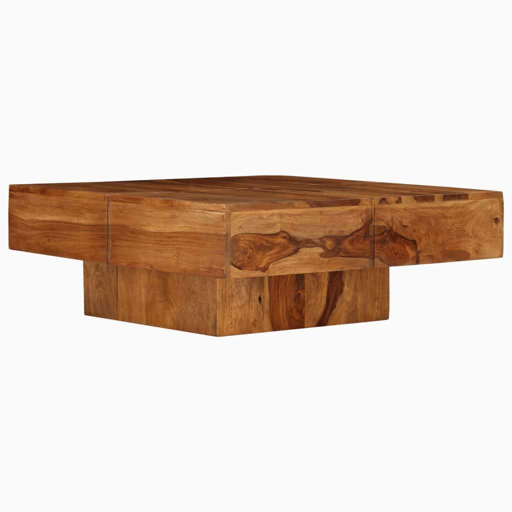 Coffee Table Solid Sheesham Wood 80x80x30 cm |  | Brown