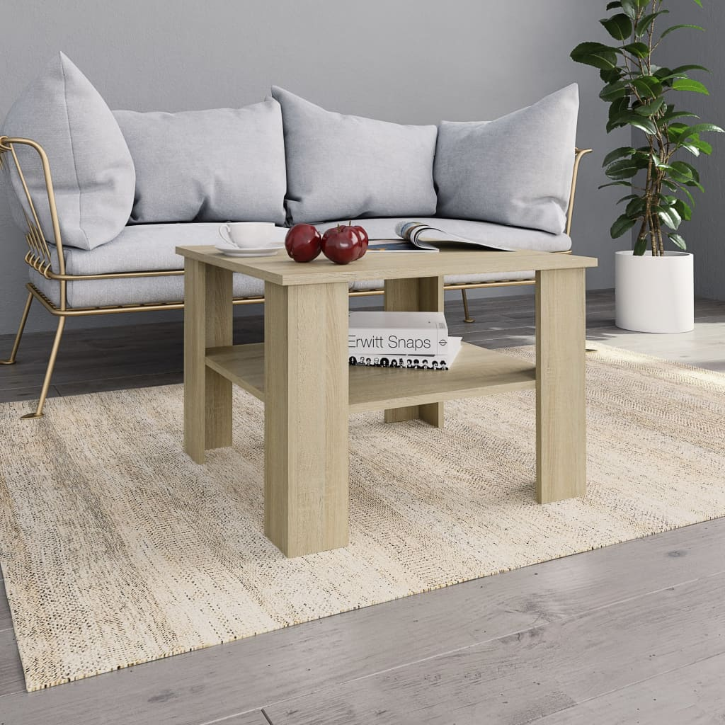 Coffee Table Sonoma Oak 60x60x42 cm Chipboard | Furniture Supplies UK