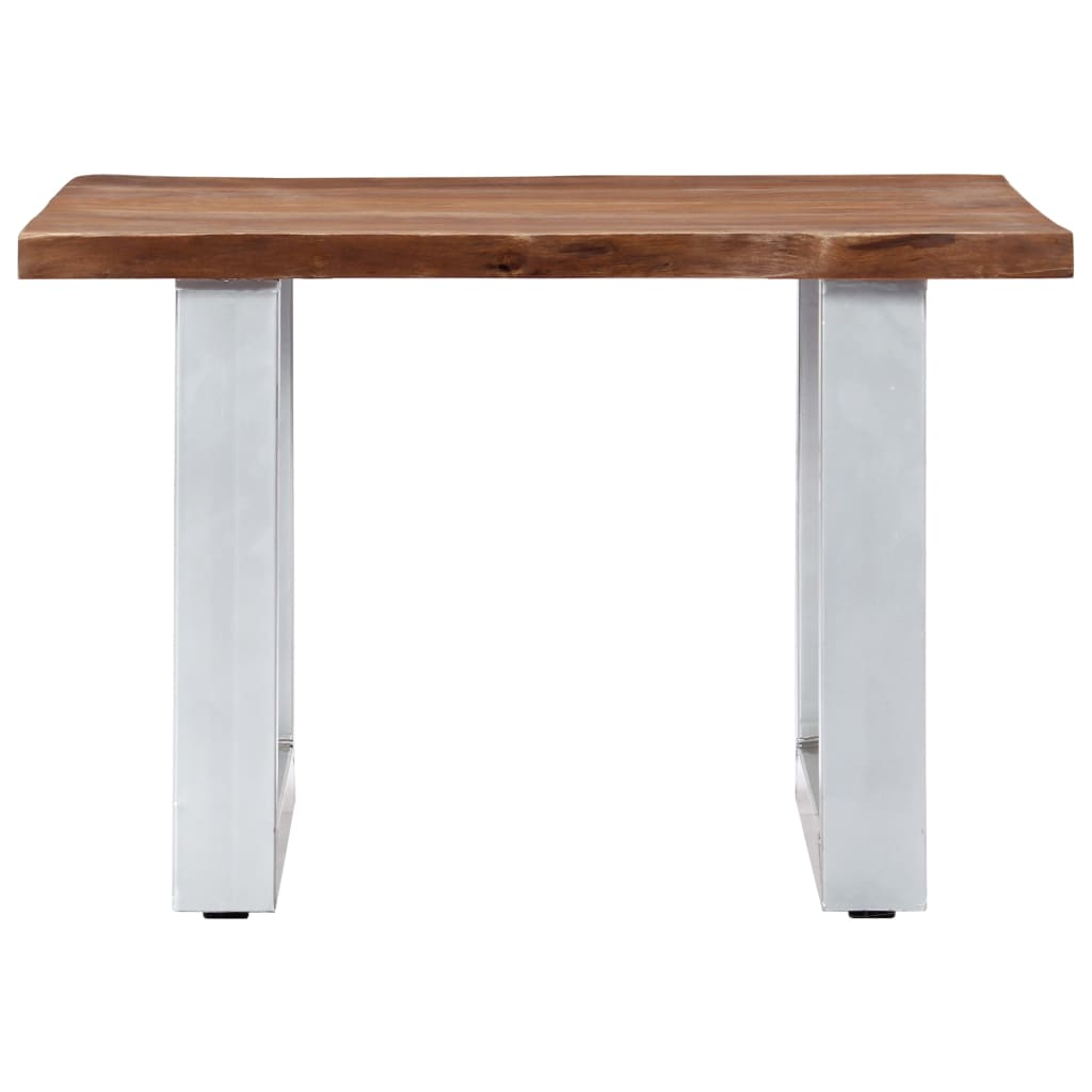 Coffee Table with Live Edges 60x60x40 cm Solid Acacia Wood |  | Brown