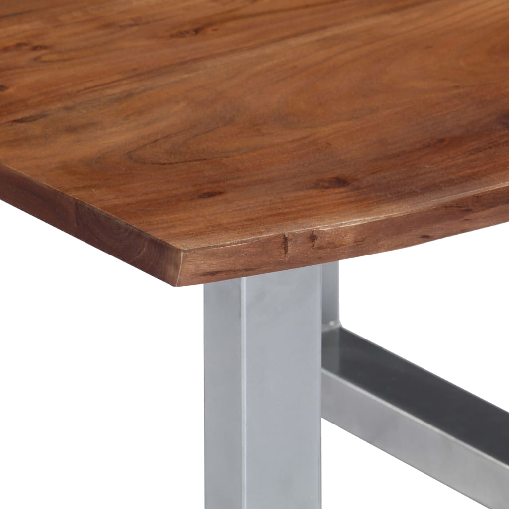 Coffee Table with Live Edges 60x60x40 cm Solid Acacia Wood