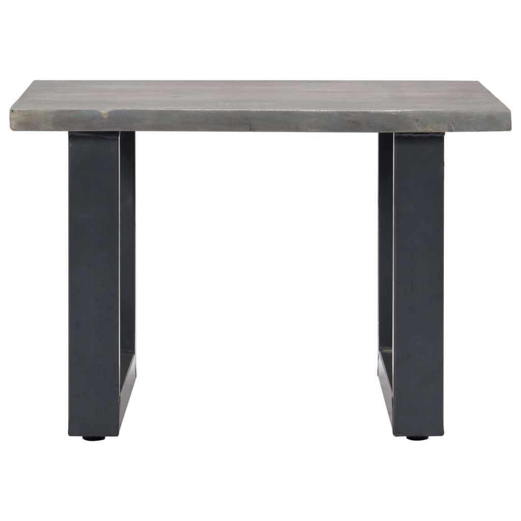 Coffee Table with Live Edges Grey 60x60x40 cm Solid Acacia Wood |  | Grey
