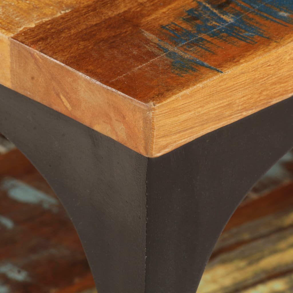 Coffee Table with Shelf 100x60x35 cm Solid Reclaimed Wood |  | Brown