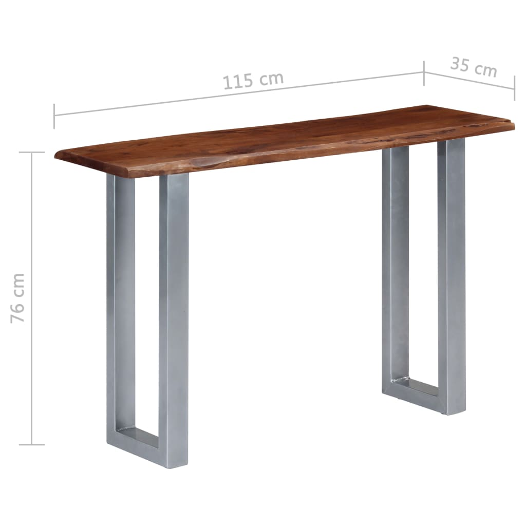Console Table 115x35x76 cm Solid Aacia Wood and Iron