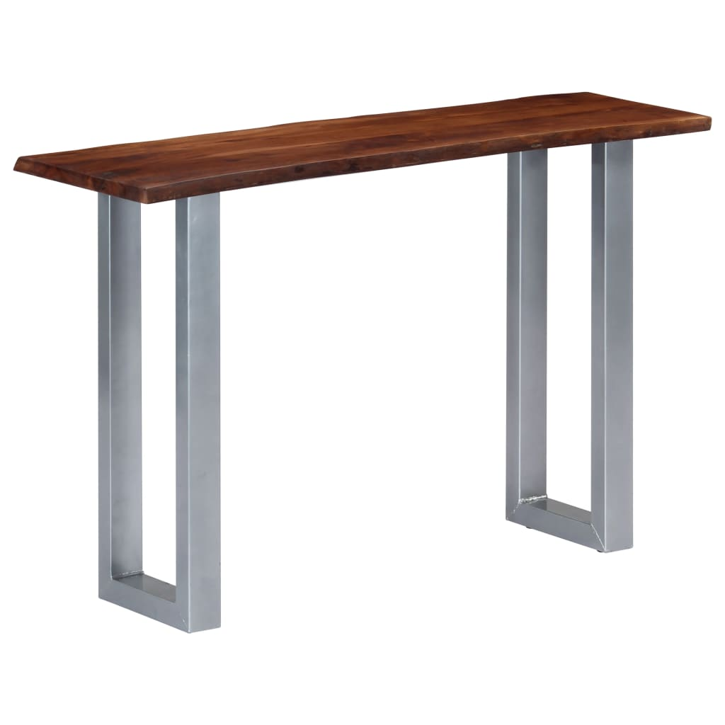 Console Table 115x35x76 cm Solid Aacia Wood and Iron | Furniture Supplies UK