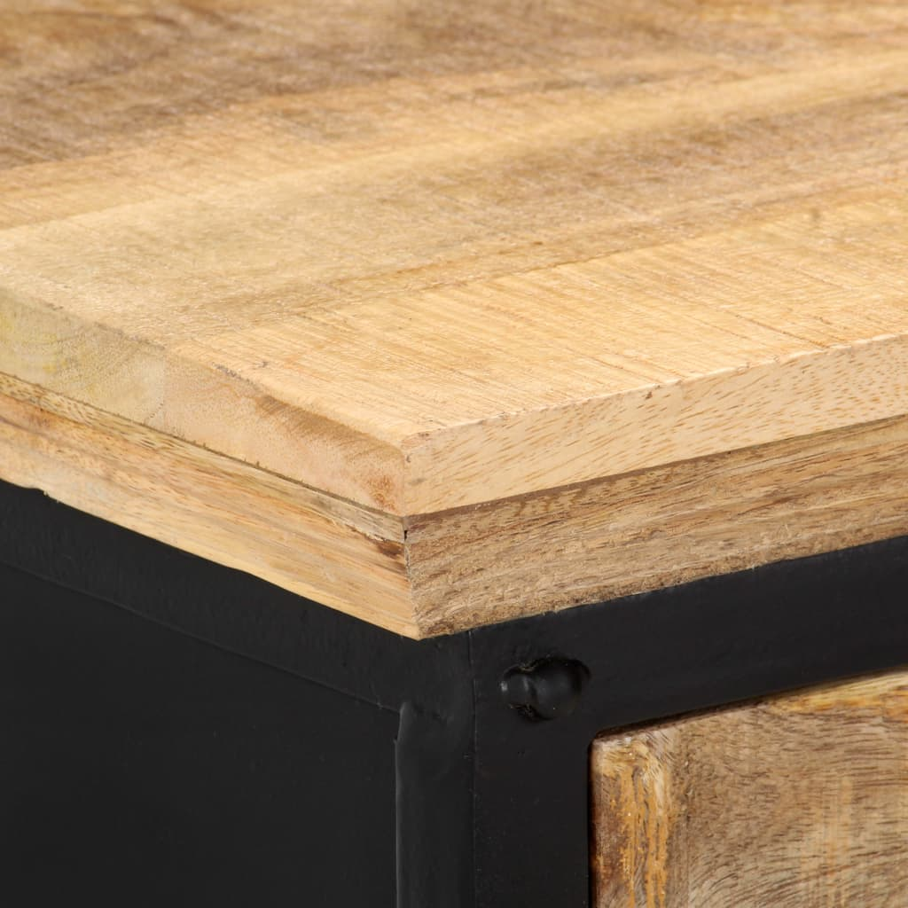 Console Table 120x30x76 cm Solid Mango Wood      Brown