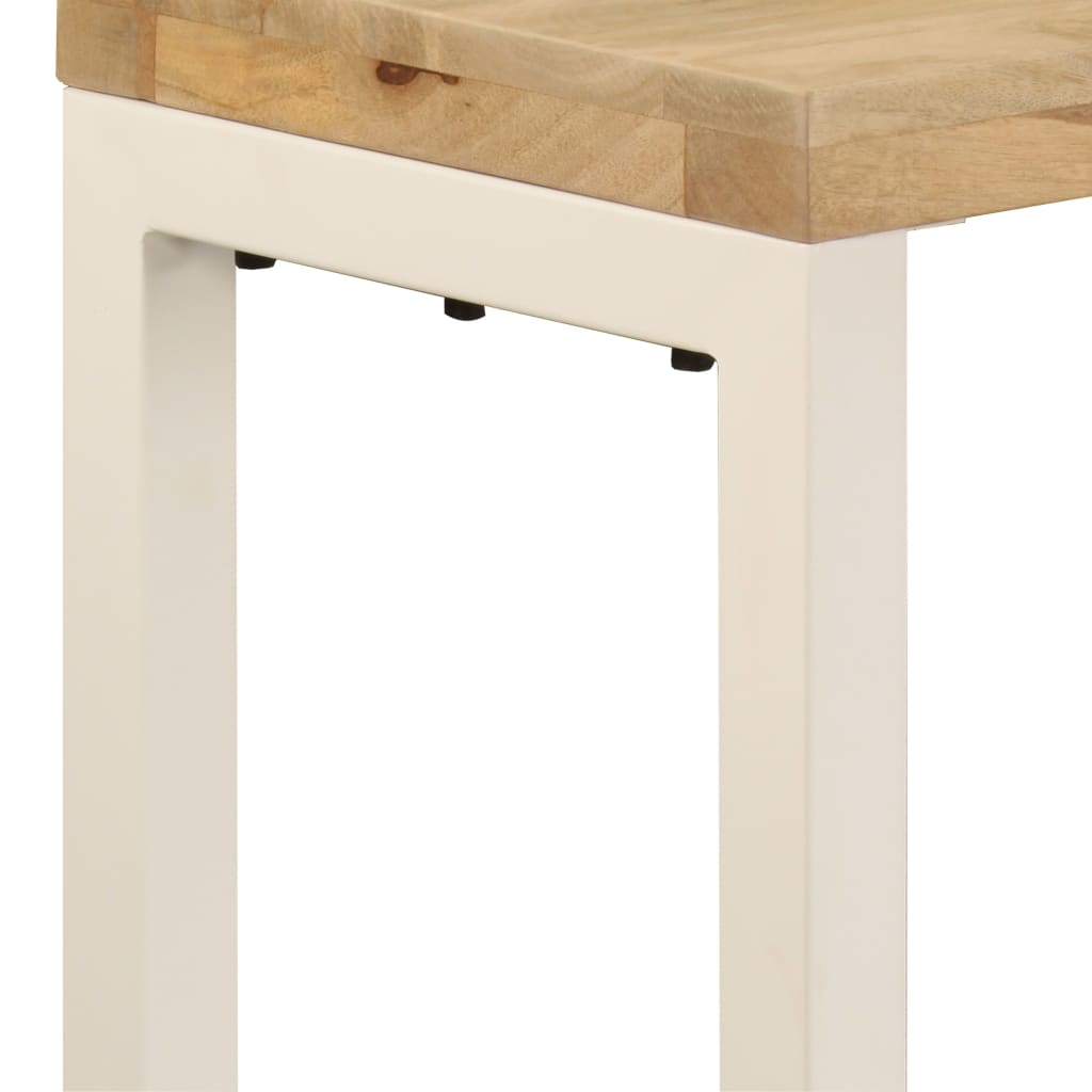Console Table 120x35x76 cm Solid Mango Wood and Steel