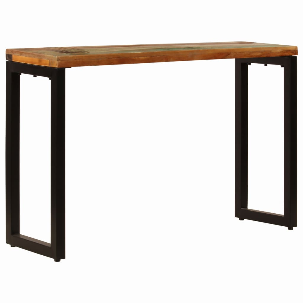 Console Table 120x35x76 cm Solid Reclaimed Wood and Steel |  | Brown