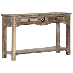 Console Table 120x40x75 cm Solid Reclaimed Wood | Furniture Supplies UK