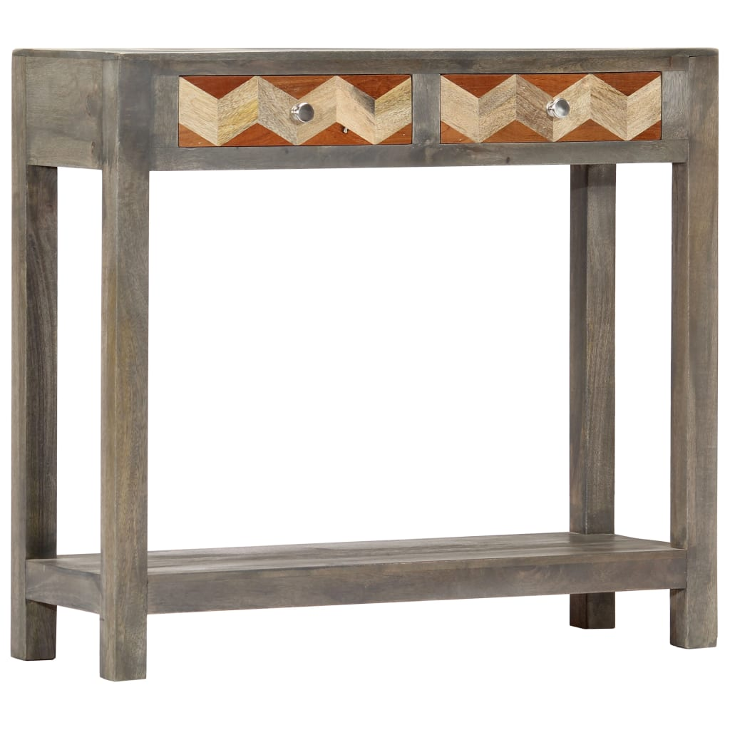 Console Table Grey 86x30x76 cm Solid Mango Wood | Furniture Supplies UK