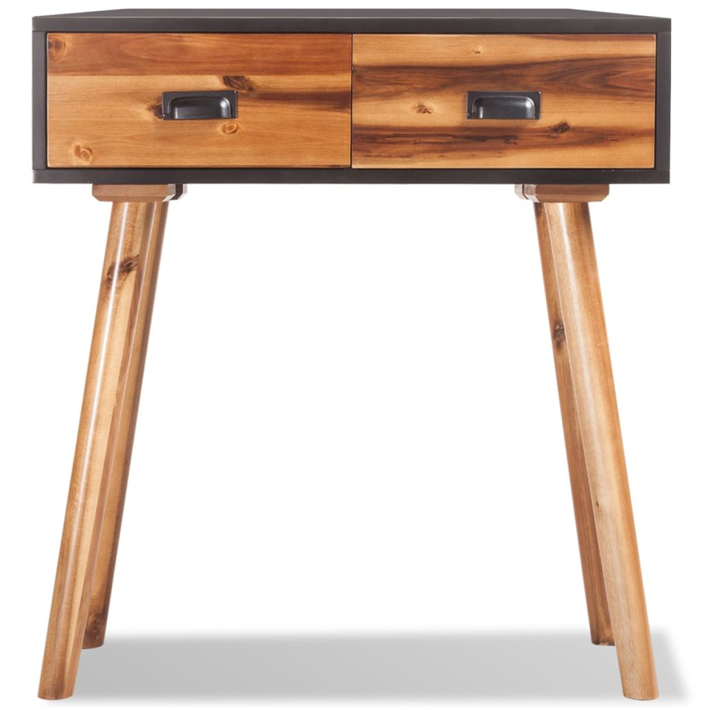 Console Table Solid Acacia Wood 70x30x75 cm |  | Brown