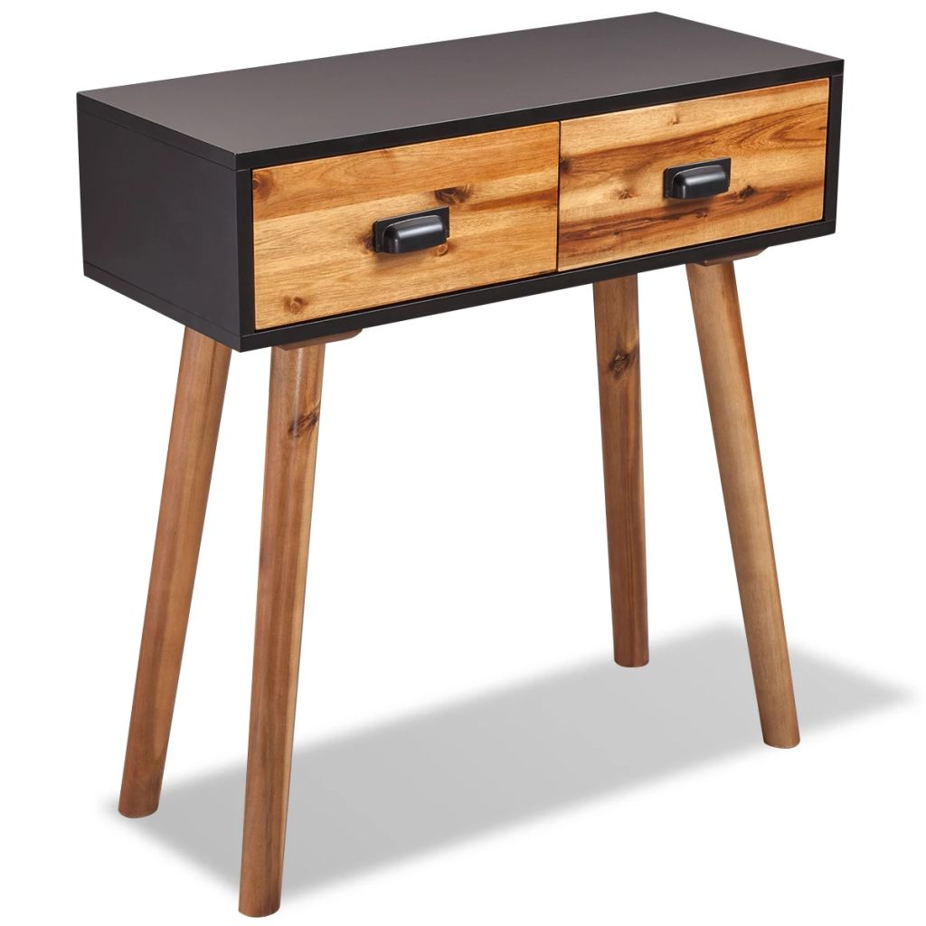 Console Table Solid Acacia Wood 70x30x75 cm | Furniture Supplies UK