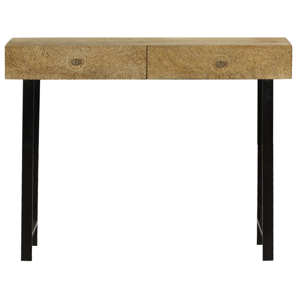 Console Table Solid Mango Wood 102x30x79 cm |  | Brown