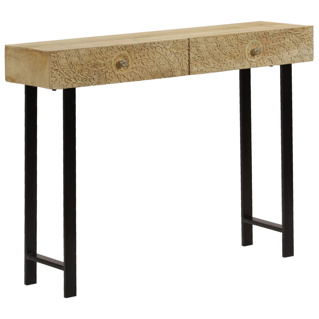 Console Table Solid Mango Wood 102x30x79 cm | Furniture Supplies UK