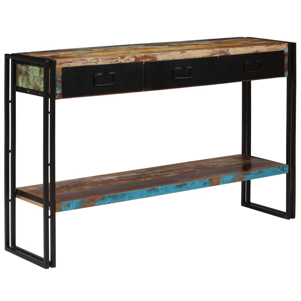 Console Table Solid Reclaimed Wood 120x30x76 cm | Furniture Supplies UK