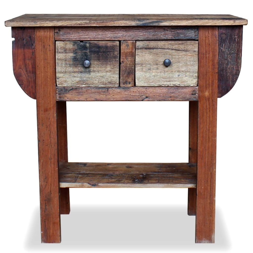 Console Table Solid Reclaimed Wood 80x35x80 cm |  | Brown