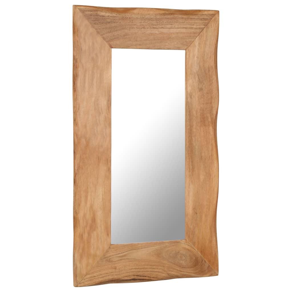 Cosmetic Mirror 50x80 cm Solid Acacia Wood   Furniture Supplies UK