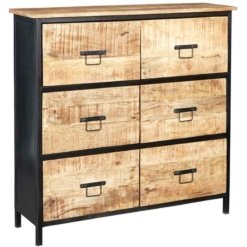 Cosmo Industrial 6 Drawer Chest | Furniture Supplies UK