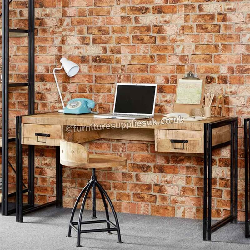 Cosmo Industrial Desk | Solid Wood |