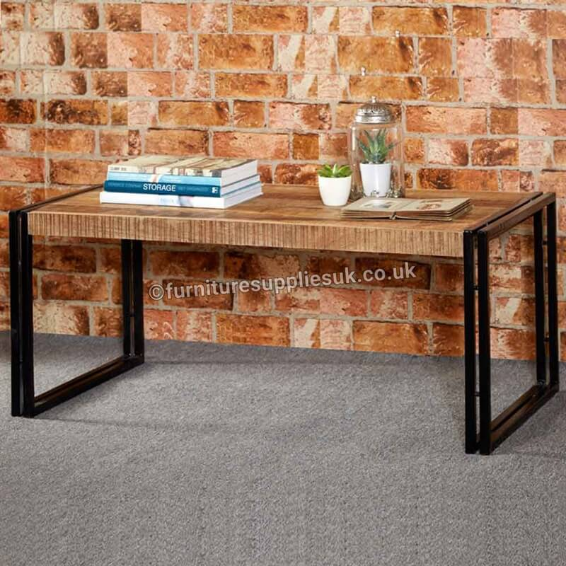 Cosmo Industrial Large Coffee Table | Solid Wood |