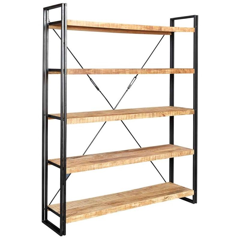 Cosmo Industrial Large Open Bookcase | Furniture Supplies UK